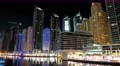 8K Dubai Marina night time lapse, United Arab Emirates Footage