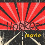 Horror movie vintage poster Stock Illustration