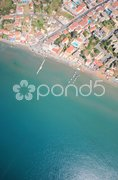 Aerial view on the island of Zakynthos Stock Photos