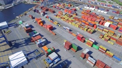 Port of Baltimore cargo containers Stock Footage