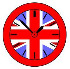 Union Jack Clock Stock Illustration