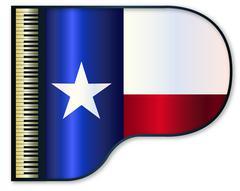 Grand Piano Texas Flag Piirros