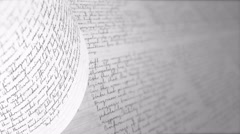 Writing with a pen or pencil. Handwriting. Seamless Background Loop. Stock Footage