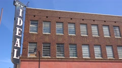 Establishing shot of the New Ideal warehouse in downtown Birmingham, Alabama. Stock Footage