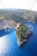 Aerial view on Zakynthos island Stock Photos