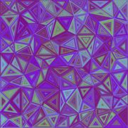 Abstract irregular triangle mosaic background Stock Illustration