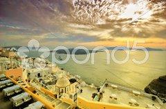 View of Fira town - Santorini Stock Photos