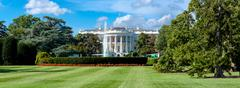 Panoramic view of the White House in Washington D.C. Stock Photos