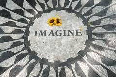The Imagine mosaic at Strawberry Fields in Stock Photos