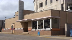 An establishing shot of the Greyhound bus station where the Freedom Riders of Stock Footage