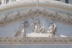 Frieze of the US Capitol at Washngton D.C Stock Photos