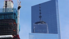World Trade Center Reflects Stock Footage