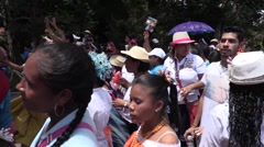 Panamanian crowd dancing for the parade  Stock Footage
