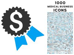 Money Award Icon with 1000 Medical Business Icons Stock Illustration