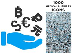 International Investment Icon with 1000 Medical Business Icons Stock Illustration