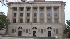 Establishing shot of the Montgomery Alabama courthouse. Stock Footage
