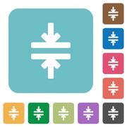 Flat horizontal merge icons Stock Illustration