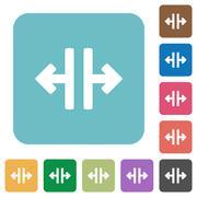 Flat vertical split icons Stock Illustration