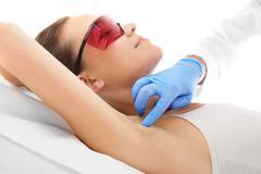 Laser hair removal armpits Stock Photos