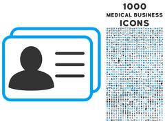 Account Cards Icon with 1000 Medical Business Icons Stock Illustration