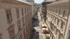Aerial shot of European historical city center - Budapest, Hungary Stock Footage