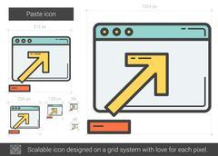 Paste line icon Stock Illustration