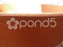 Rim of terracotta pot Stock Photos
