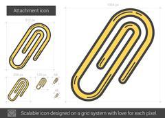 Attachment line icon Stock Illustration
