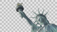 Symbol of New York and USA. Liberty Enlightening the World. Statue of Liberty. Stock Footage