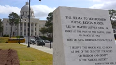 A plaque outside the Montgomery capital building honors the civil rights Selma Stock Footage