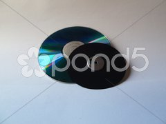 Floppy without case on cd Stock Photos