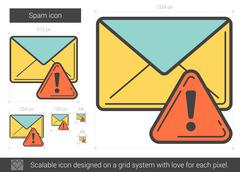 Spam line icon Stock Illustration