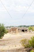 Ruins of Roman villa, Sao Cucufate, Alentejo, Portugal Stock Photos