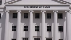 An elegant building houses the Department Of labor for the State of Alabama in Stock Footage
