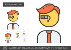 Entrepreneur line icon Stock Illustration