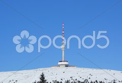Praded outlook tower at winter Stock Photos