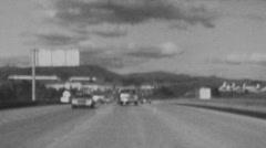 Thousand Oaks, California, USA - October 1, 1982:  Editorial vintage black an Stock Footage