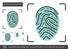Identification system line icon Stock Illustration