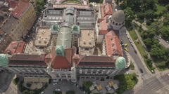 Aerial view of Budapest, Hungary - Gellert spa and bath, Hungary Stock Footage