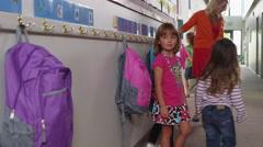 Kids walking to pre-school classroom - 4K Stock Footage