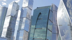 The modern city, big skyscrapers Stock Footage