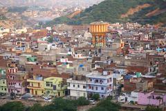View of Jaipur city, Rajasthan, India. Stock Photos