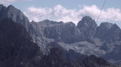 Peaks of Rocky mountains Stock Footage
