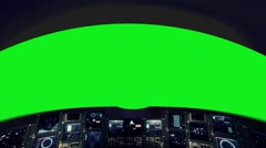 Inside a Spaceship Cockpit on a Green Screen Stock Footage