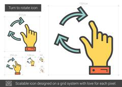Turn to rotate line icon Stock Illustration
