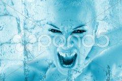 Frozen woman Stock Photos