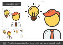 Innovation line icon Stock Illustration
