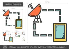 Satellite phone line icon Stock Illustration