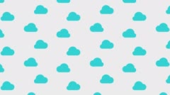 Flowing blue cloud on white background with alpha channel. Loop animation Stock Footage