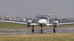 Private luxury jet on sunny day Stock Footage